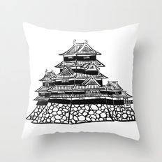 The Black Castle  Throw Pillow