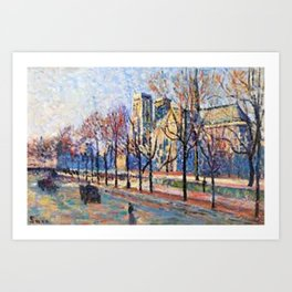 View of Notre Dame from the Quay Montebello by Maximilian Luce Art Print
