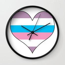 Intersex Heart v1 Wall Clock