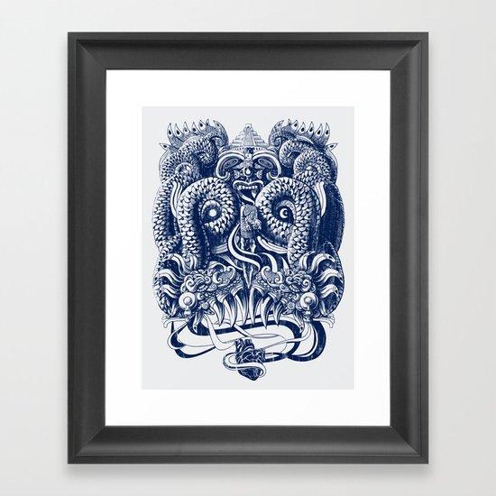 Tlaloc Framed Art Print