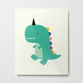Dinocorn Metal Print