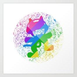 Rainbow MonsterCat Art Print