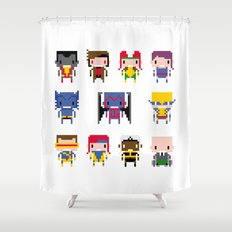 Pixel X-Men Shower Curtain