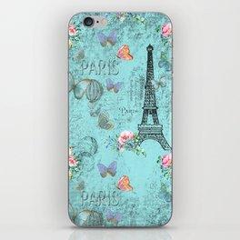 Paris - my blue love iPhone Skin