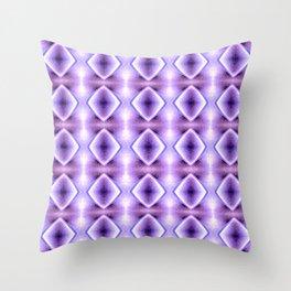 Blue Purple Geometric Diamond Pattern Design Throw Pillow