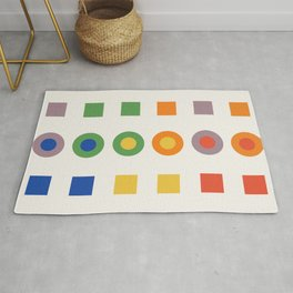 Chevreul Laws of Contrast of Colour, Plate VI, 1860, Remake Rug