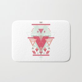 Triangular Abyssal, pink edition Bath Mat