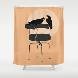 Les Crowbusiers Shower Curtain