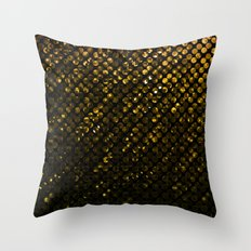 Crystal Bling Strass Gold G321 Throw Pillow