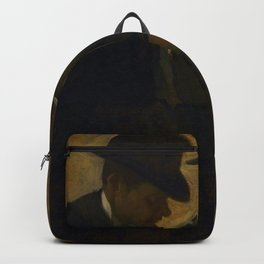 Paul Lafond and Alphonse Cherfils Examining a Painting by Edgar Degas Backpack