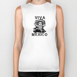 Viva Mexico Mad Dead Mariachi Biker Tank