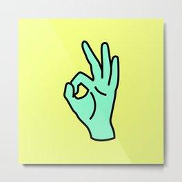 OK gesture Metal Print