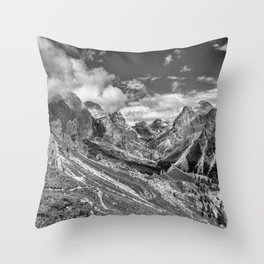 mountains, the Dolomites in South Tyrol Throw Pillow