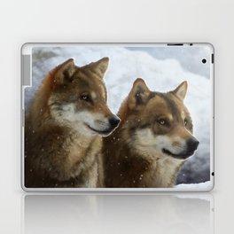 Twin Wolves Laptop & iPad Skin