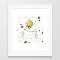 bees Framed Art Prints featuring Bees by Hayley Gialloreto