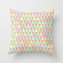 Spring Pastel Ice Cream Pattern Throw Pillow