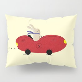 Rabbit and his car Pillow Sham