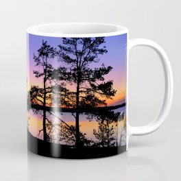 Colourful sunset and dusk in Finland Coffee Mug