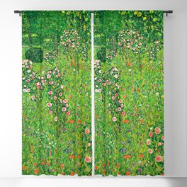 """Gustav Klimt """"Orchard With Roses"""" Blackout Curtain"""