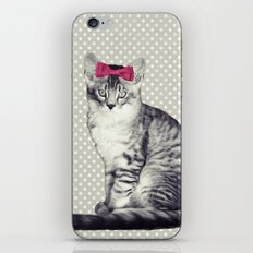 Cat with a Bow iPhone & iPod Skin