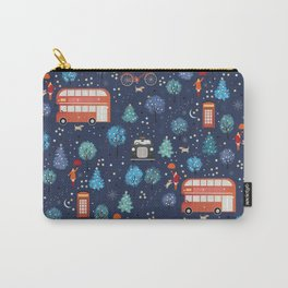 London Christmas Carry-All Pouch