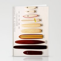surfboard Stationery Cards featuring Surfboard Evolution by John Lyman Photos