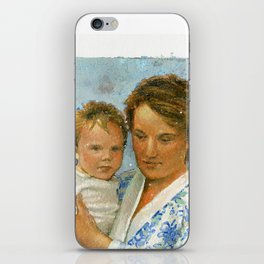 mother and child 2 iPhone Skin