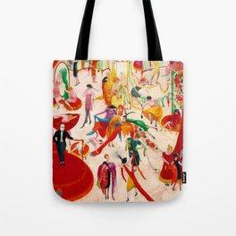 'Spring Sale Soireé at Bendels' Jazz Age New York City Portrait by Florine Stettheimer Tote Bag