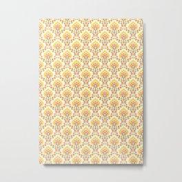 Seventies style floral pattern Metal Print