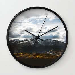 Lets get lost #society6 #mountains Wall Clock