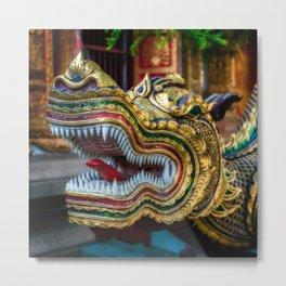 Temple Dragon Thailand Metal Print