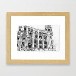 Casa de Allende Framed Art Print