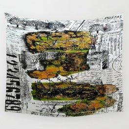 Destination Nowhere - Mixed Media Acrylic Pebeo Abstract Modern Art, 2015 Wall Tapestry