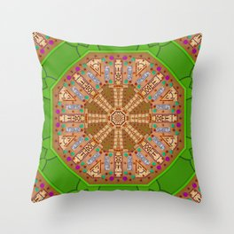 sweet crackers with chocolate mandala Throw Pillow