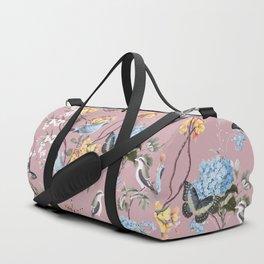 BIRDS, BLOSSOMS & BUTTERFLIES BLUSH Duffle Bag