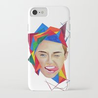 miley iPhone & iPod Cases featuring Miley by Mike Lampkin