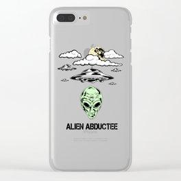 Alien Abductee Funny UFO Extraterrestrial Nerd Believer Clear iPhone Case