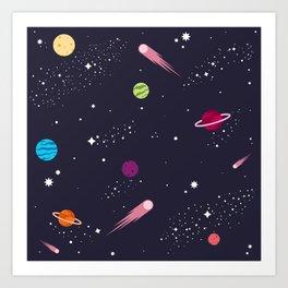 Spacey Sky Art Print