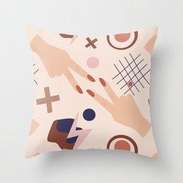 Retro modern shapes Throw Pillow