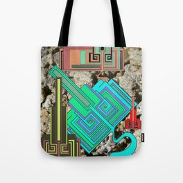 FUTURE FORMS OF EARTH (an adventure in neo-organics) Tote Bag