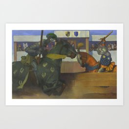 A Medieval Knights Jousting Tournament Art Print