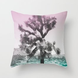 Joshua Tree - Ultraviolet Throw Pillow