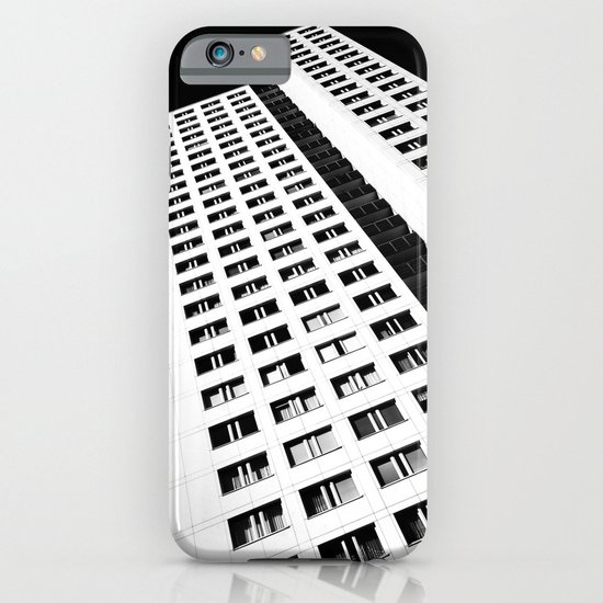 Berlin skyscraper architecture photography in black and white iPhone & iPod Case