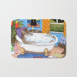 Cat in bath Bath Mat