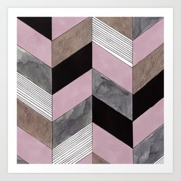 CHEVRON PATTERN Art Print