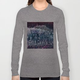 chicago city skyline Long Sleeve T-shirt