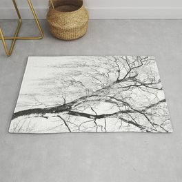 White snow tree Rug