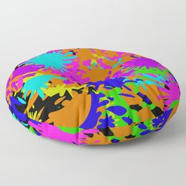 Splatoon Ink Fight Pattern Floor Pillow