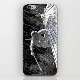Black and White Ninja Turtle Leonardo iPhone Skin