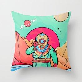 The first explorer  Throw Pillow